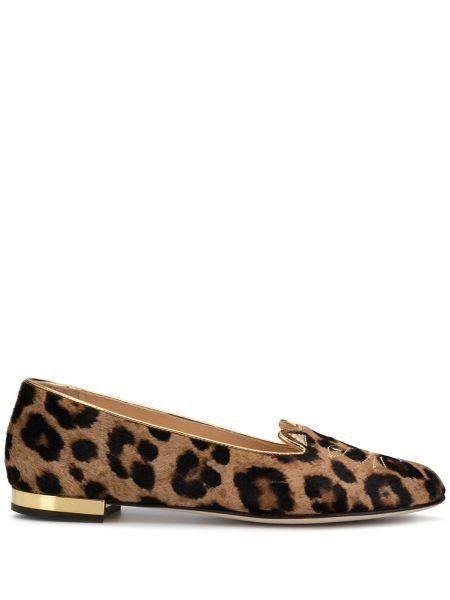Балетки леопардовые коричневый Charlotte Olympia