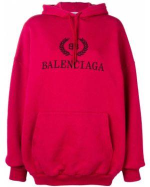 Bluza z kapturem na ramieniu z kapturem Balenciaga