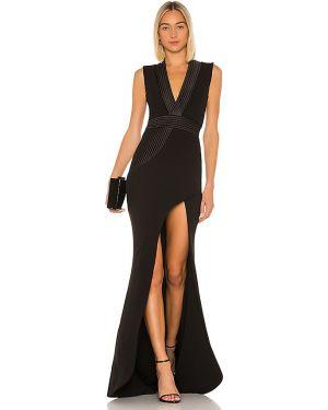 Czarna sukienka mini pikowana Zhivago