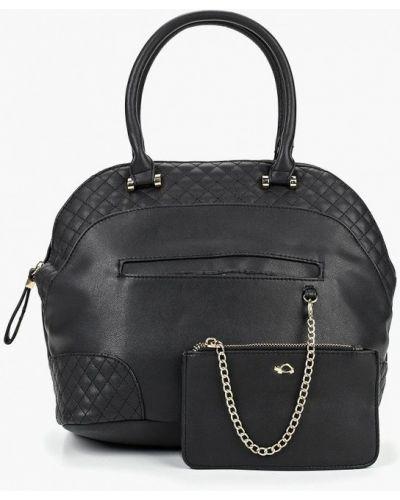 Кожаная сумка черная из искусственной кожи Carpisa