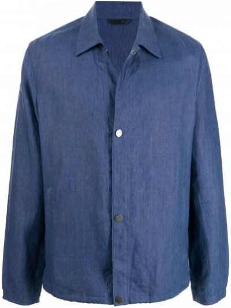 Niebieska klasyczna kurtka Gieves & Hawkes
