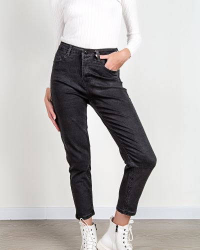 Хлопковые джинсы - черные Denim
