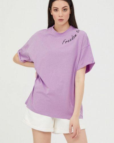 Фиолетовая футболка с короткими рукавами Jam8