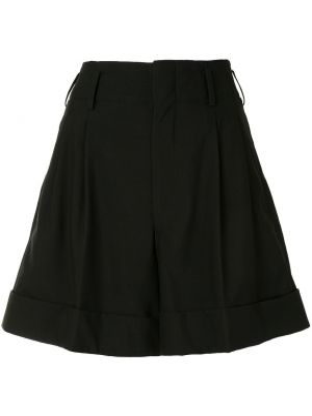 Свободные кашемировые черные шорты Comme Des Garçons Pre-owned