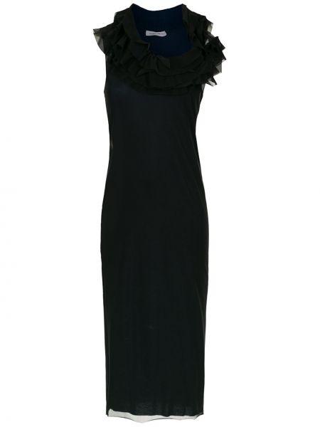 Черное приталенное платье из фатина Gloria Coelho