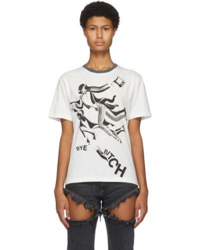 Хлопковая с рукавами черная рубашка с коротким рукавом с воротником Telfar