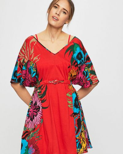 Пляжное платье с поясом на резинке Desigual