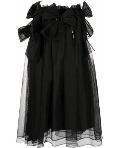 Расклешенная черная юбка из фатина Comme Des Garçons Noir Kei Ninomiya