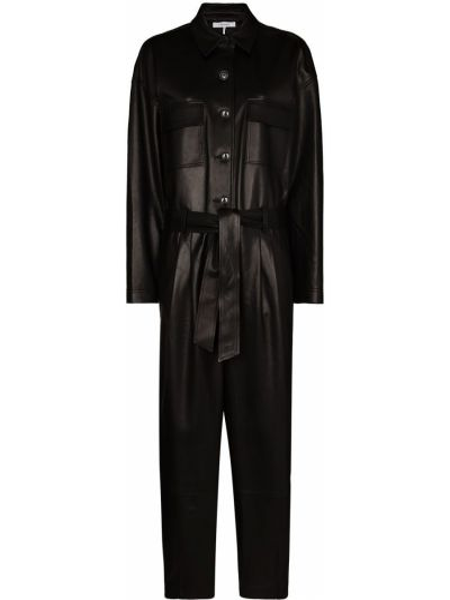 Черный комбинезон с карманами с длинными рукавами Frame