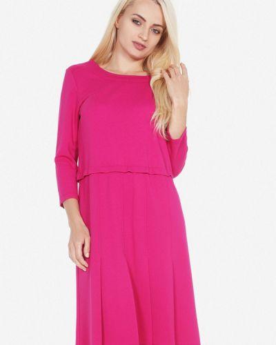 Платье розовое осеннее Artwizard