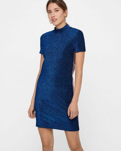 Платье осеннее синее Noisy May