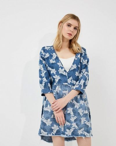 Платье с длинными рукавами джинсовое One Teaspoon