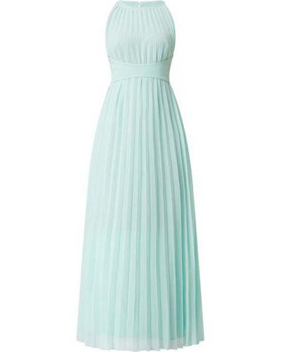 Zielona sukienka rozkloszowana bez rękawów Apart Glamour
