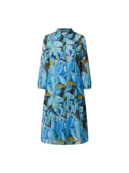 Niebieska sukienka rozkloszowana Luisa Cerano