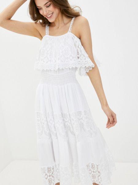 Платье с открытыми плечами весеннее Perfect J