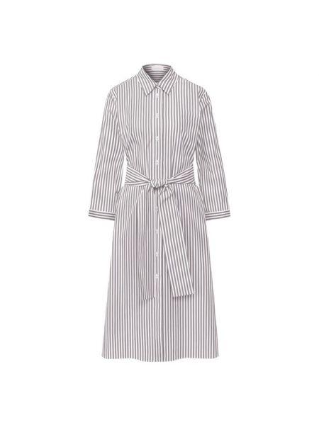 Хлопковое серое платье Van Laack