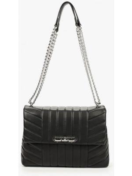Кожаная сумка через плечо черная Topshop