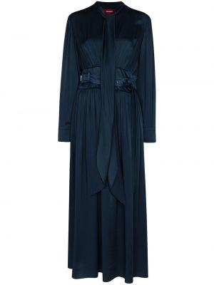 Платье миди на пуговицах с воротником с бантом из вискозы Sies Marjan
