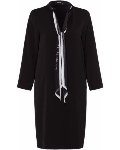 Czarna sukienka z długimi rękawami na co dzień Marc Aurel