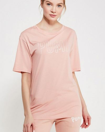 Розовое поло Puma