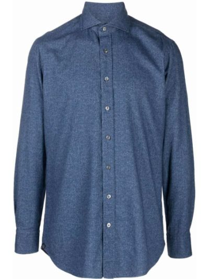Niebieska koszula zapinane na guziki Lardini