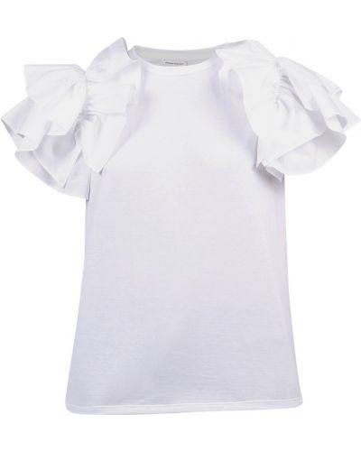 T-shirt z falbanami Alexander Mcqueen