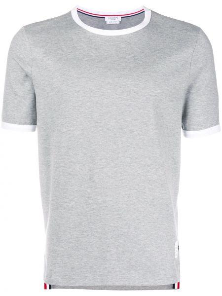 Koszula krótkie z krótkim rękawem prosto światło Thom Browne