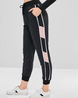 Спортивные брюки с лампасами со штрипками Zaful