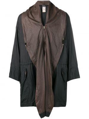Нейлоновая коричневая ветровка винтажная свободного кроя Issey Miyake Pre-owned