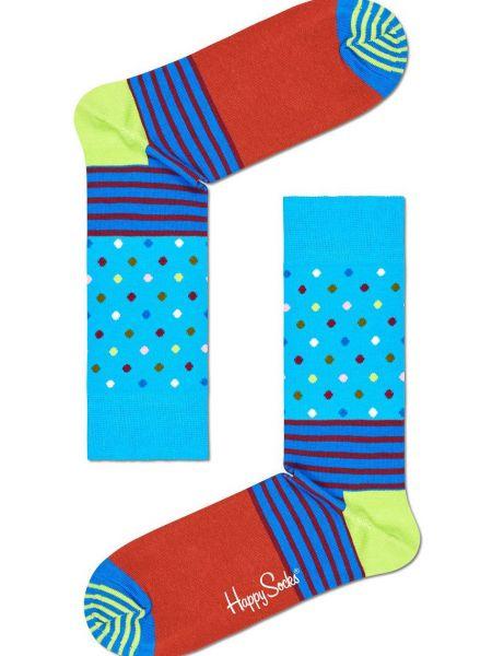 Носки в полоску с нашивками Happy Socks