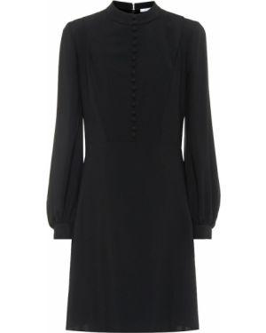 Платье шелковое красно-черное Chloé