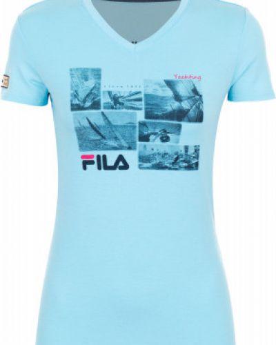 Спортивная футболка приталенная из вискозы Fila