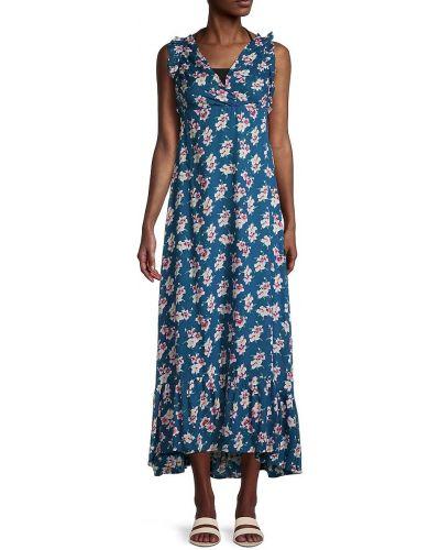 Расклешенное платье макси без рукавов в цветочный принт Tiare Hawaii