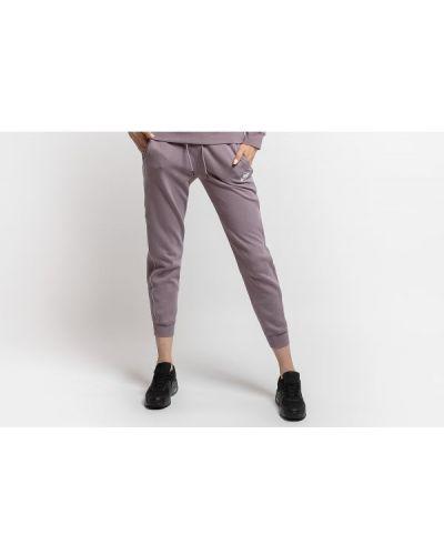 Fioletowe joggery dresowe bawełniane Nike