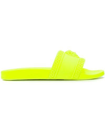 Желтые шлепанцы для бассейна Versace
