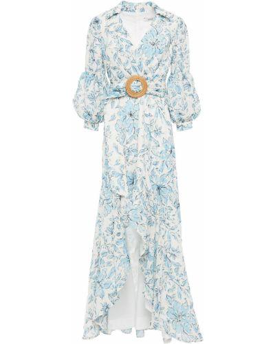 Платье с вышивкой - белое Badgley Mischka