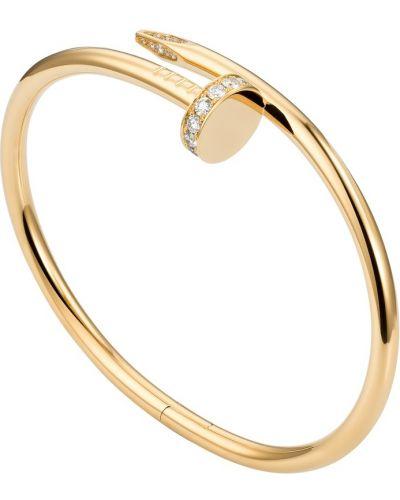 Желтый золотой браслет с бриллиантом Cartier