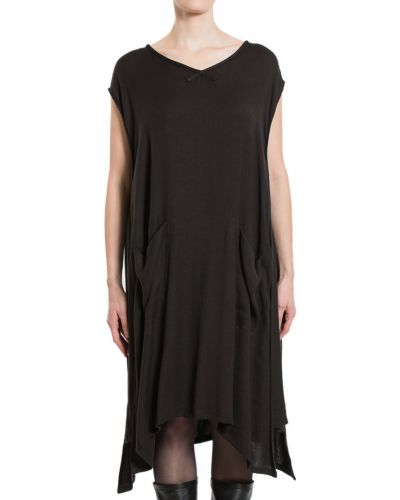 Платье из вискозы - черное Maison Margiela