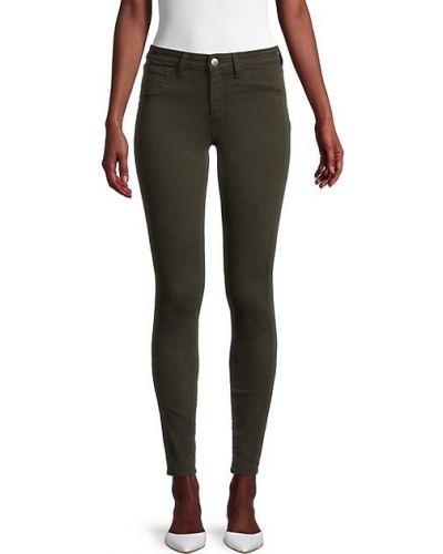 Зеленые зауженные джинсы-скинни с карманами L'agence