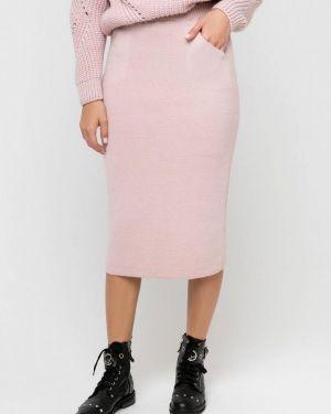Розовая юбка карандаш с рукавом 3/4 Sewel