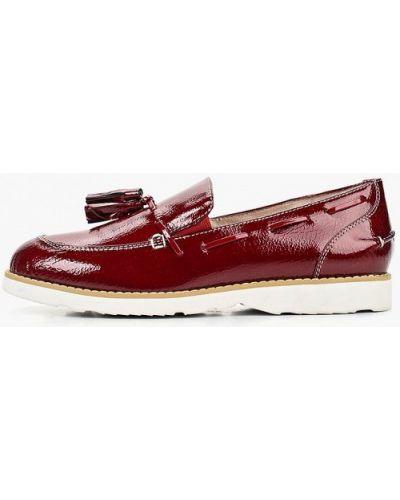Лоферы красные на каблуке M.shoes