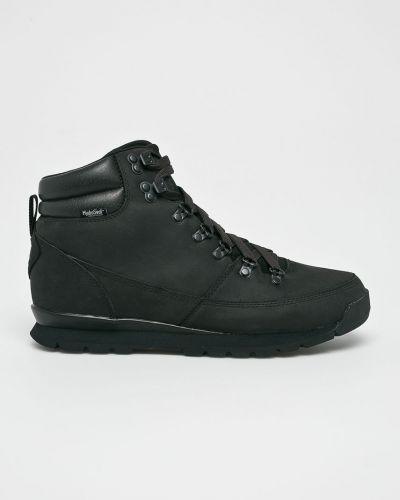 Кожаные ботинки на шнуровке черные The North Face