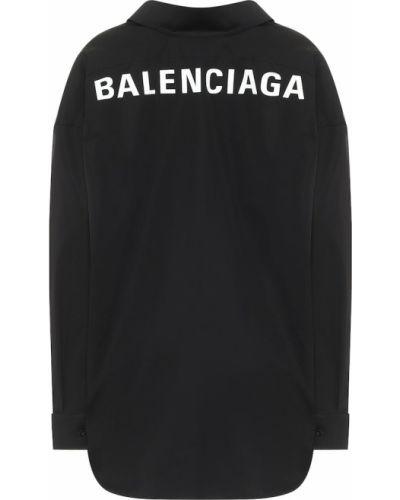 Bawełna bawełna czarny koszula Balenciaga