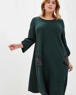 Повседневное платье осеннее зеленый Kontaly