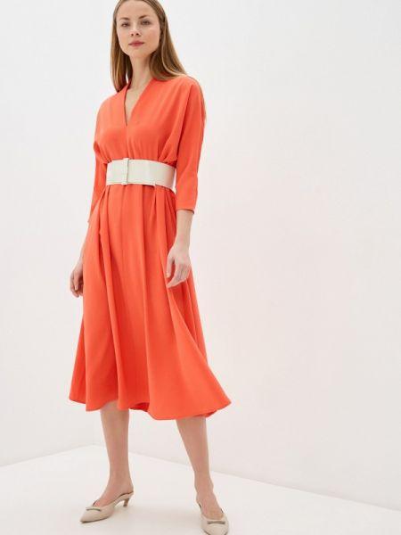 Платье прямое красный Imperial