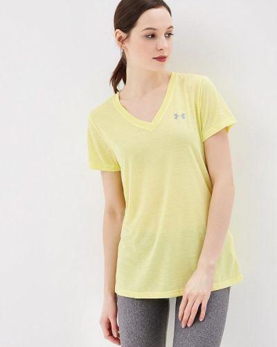 Желтая спортивная футболка Under Armour