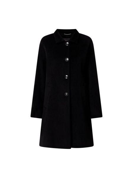 Czarny płaszcz wełniany rozkloszowany Riani