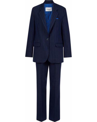 Шерстяной костюм - синий Forte Couture