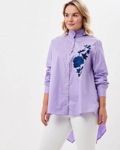 Рубашка итальянская фиолетовый Sophia