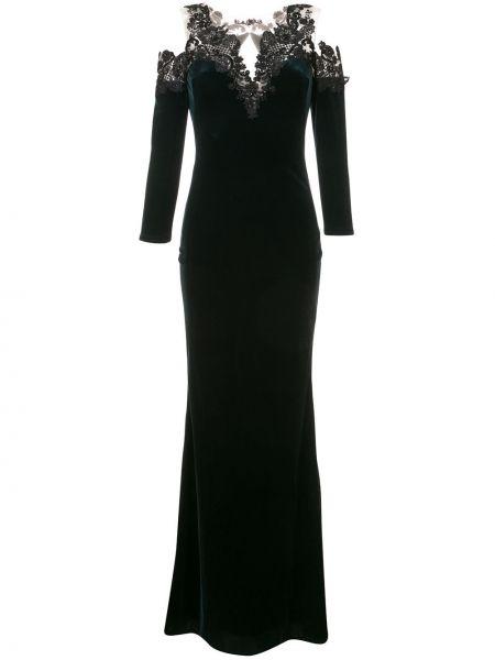Вечернее платье длинное - зеленое Marchesa Notte